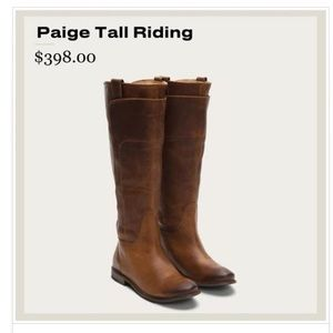 Frye Paige Tall Riding Boot size 6- BRAND NEW!